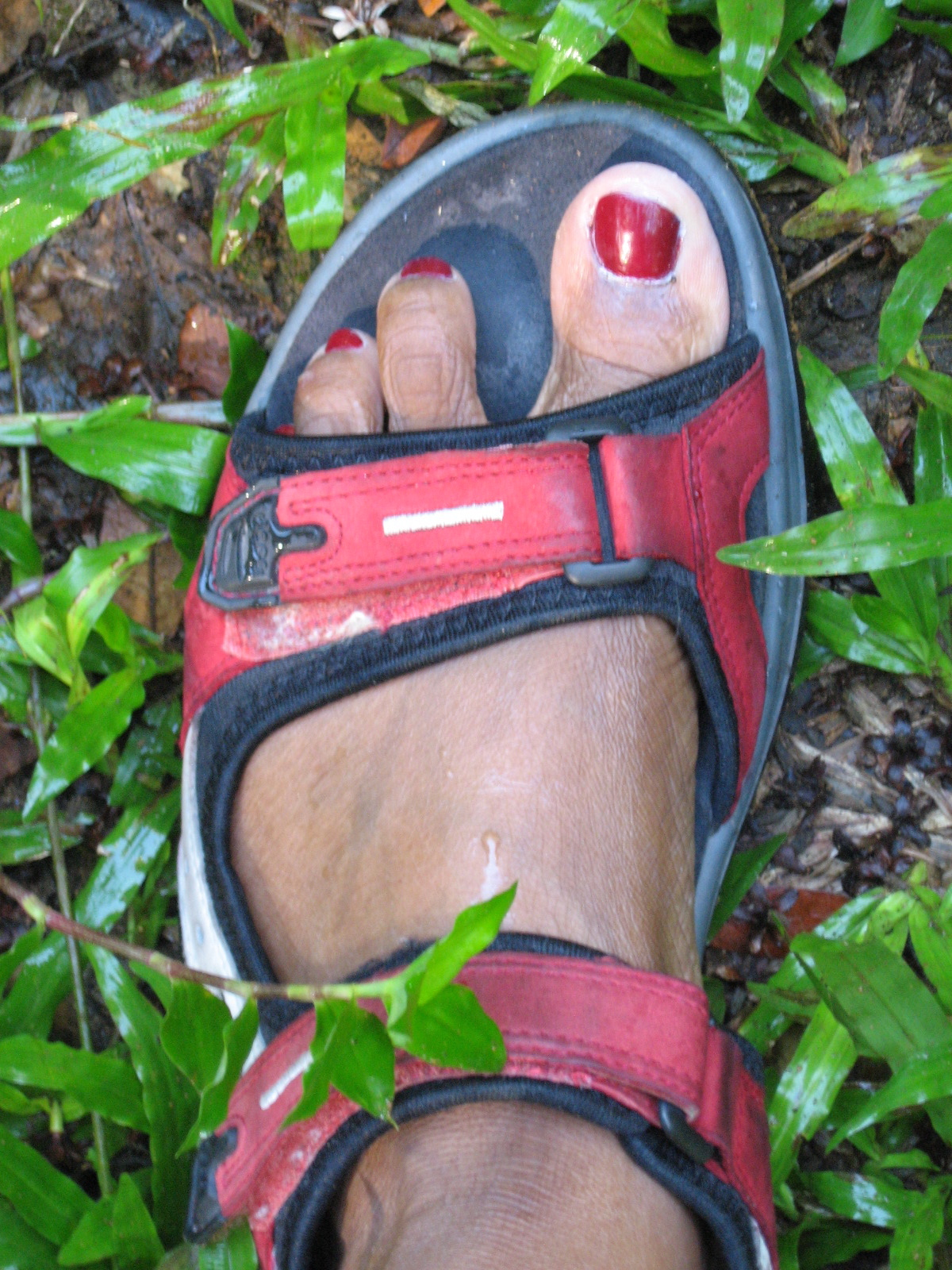 My foot on vincy soil